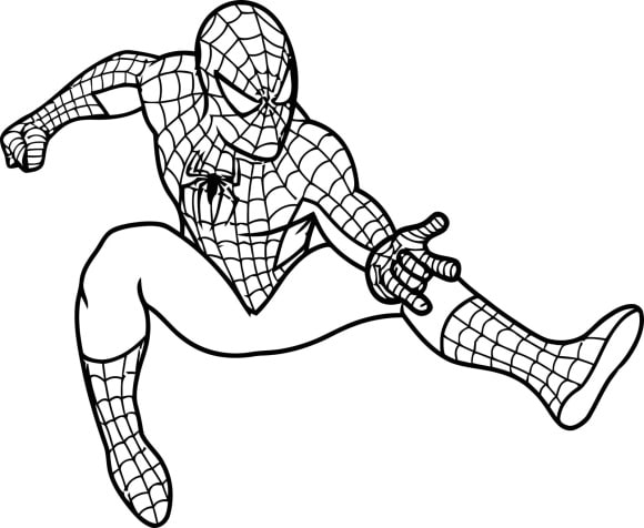 Coloring Page Spiderman Printable
