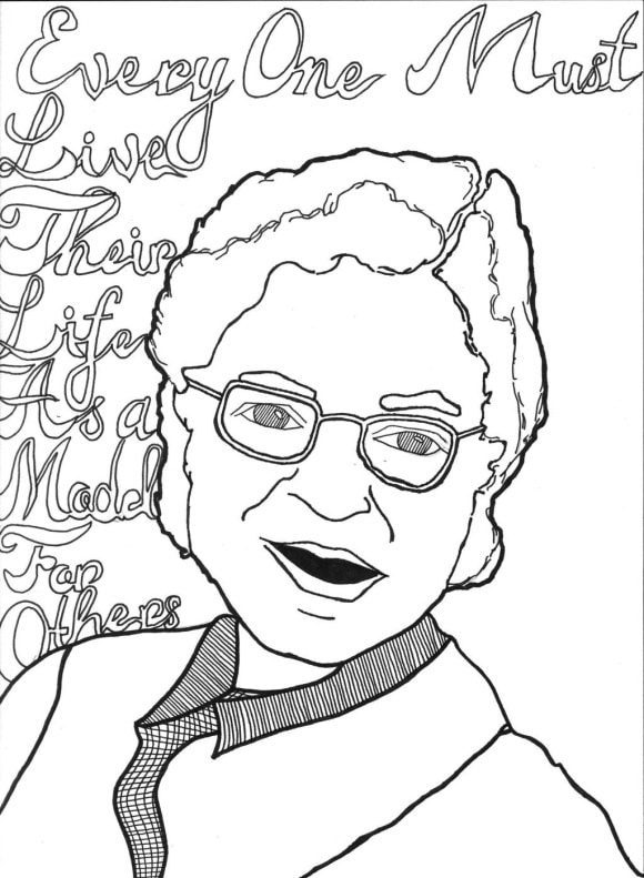 luxury rosa parks coloring page