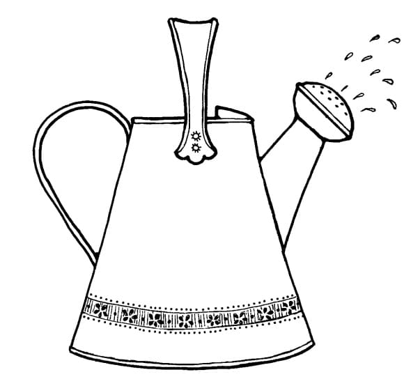 luxury watering can coloring page