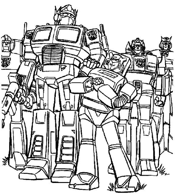 new optimus prime coloring page