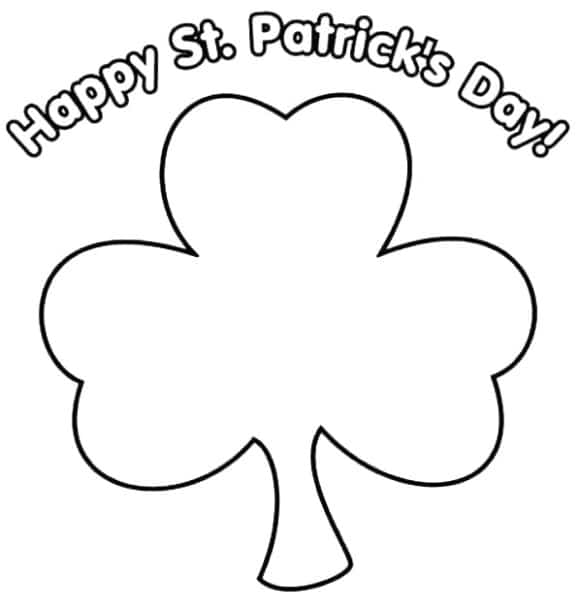 new shamrock coloring page 1