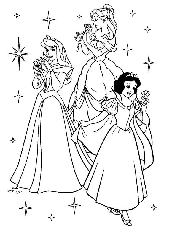 Coloring Page Disney Princess