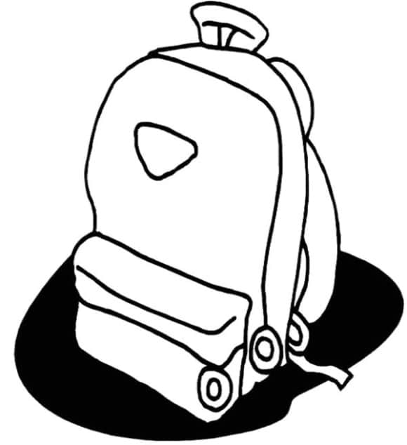 best of backpack coloring page 1