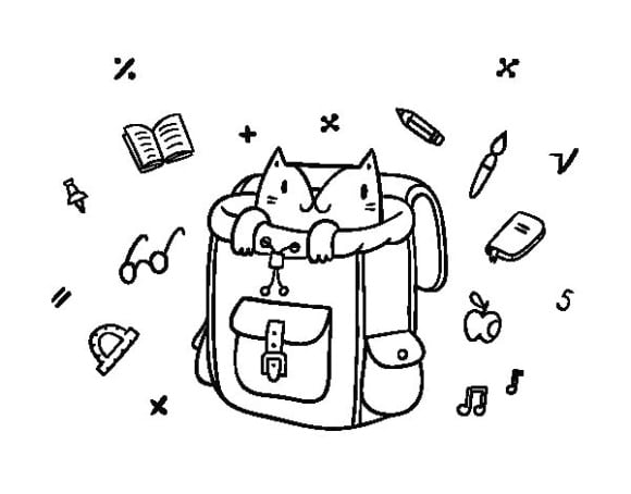 best of backpack coloring page 2