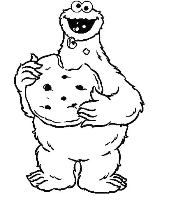 best of cookie monster coloring page 1
