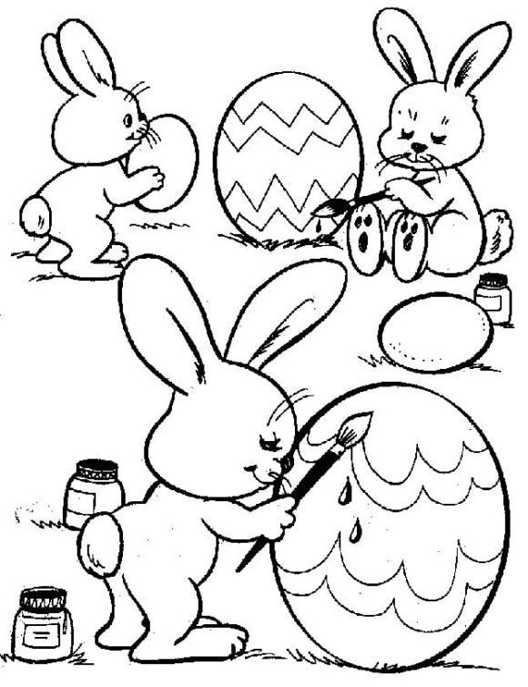 best of easter bunny coloring page 1