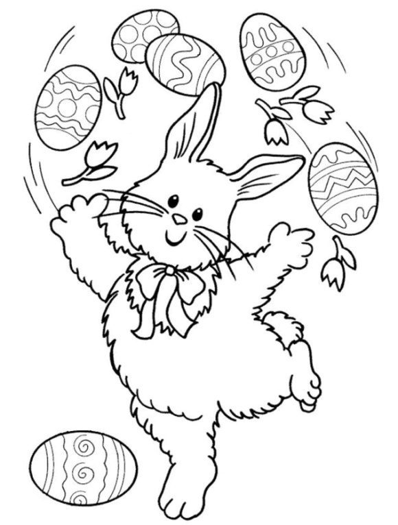cool easter bunny coloring page