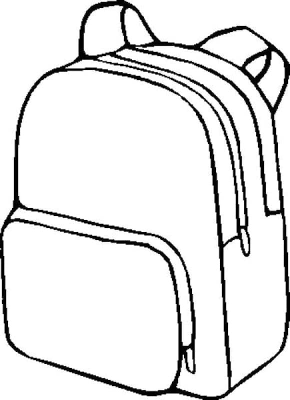 fresh backpack coloring page