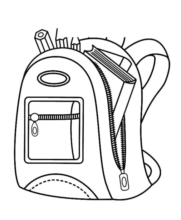 inspirational backpack coloring page