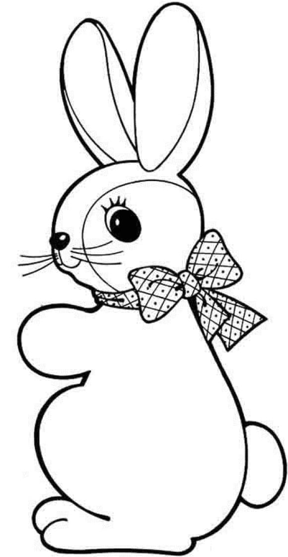 lovely easter bunny coloring page 1