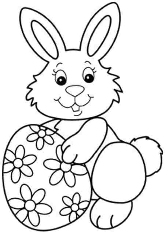 luxury easter bunny coloring page