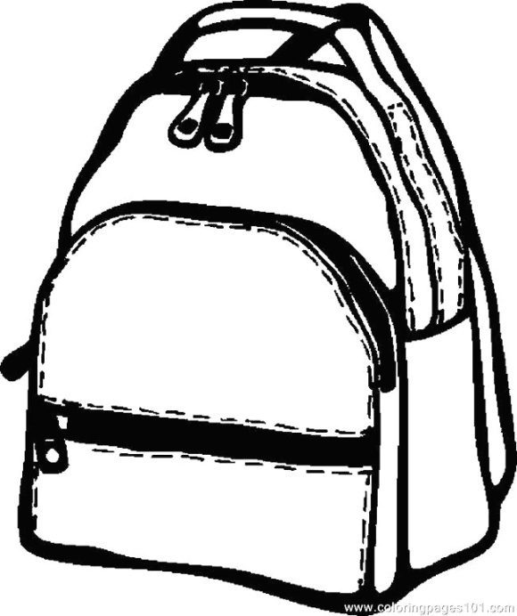 unique backpack coloring page 1