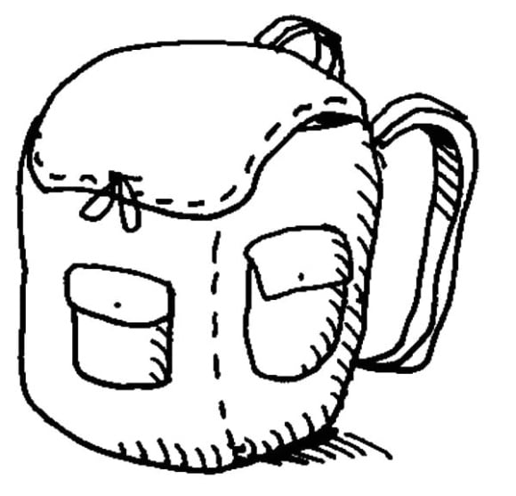 unique backpack coloring page