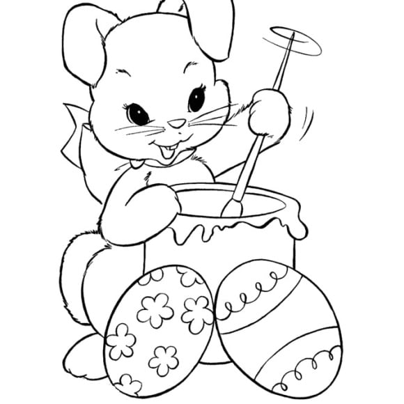 unique easter bunny coloring page 1