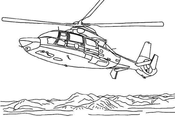 awesome helicopter coloring page