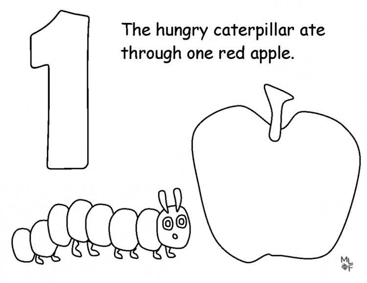 awesome very hungry caterpillar coloring page 1