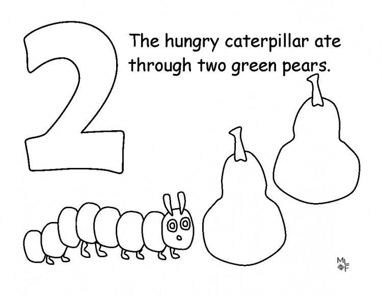 awesome very hungry caterpillar coloring page
