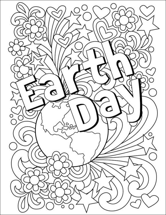 elegant earth day coloring pages