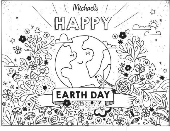 fresh earth day coloring pages