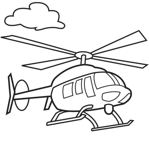 fresh helicopter coloring page 1