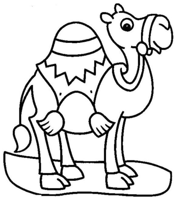 lovely camel coloring page 1