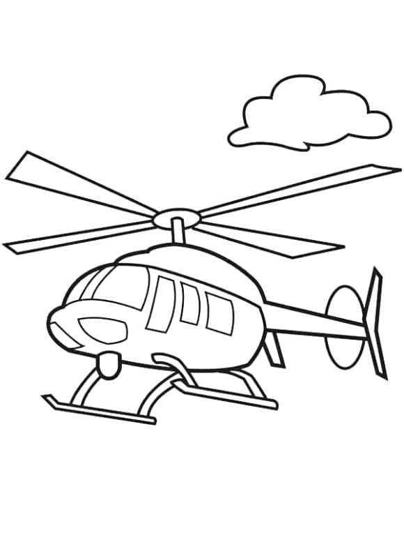 lovely helicopter coloring page
