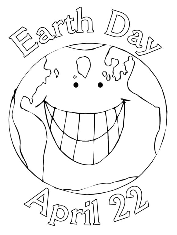 new earth day coloring pages