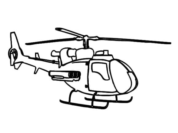 unique helicopter coloring page