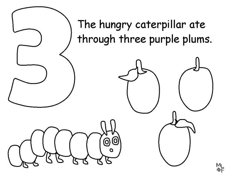 unique very hungry caterpillar coloring page