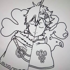 Asta Black Clover Coloring Page