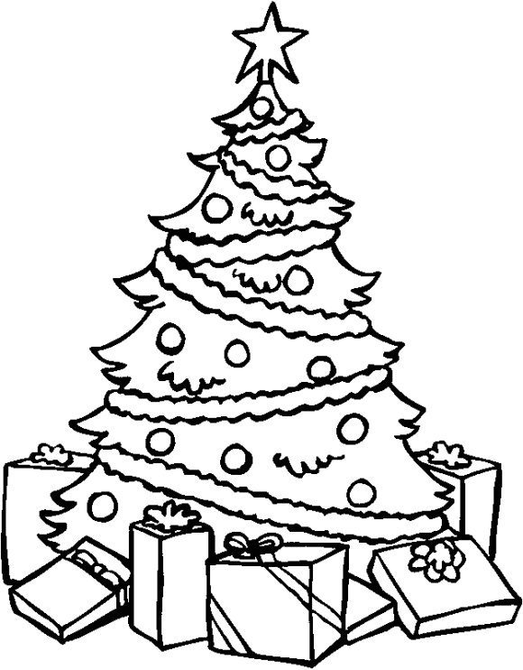 cool christmas tree coloring page