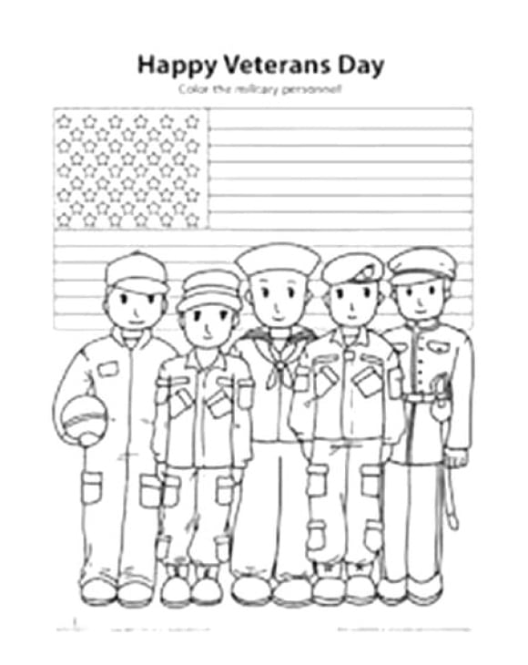 cool veterans day coloring page