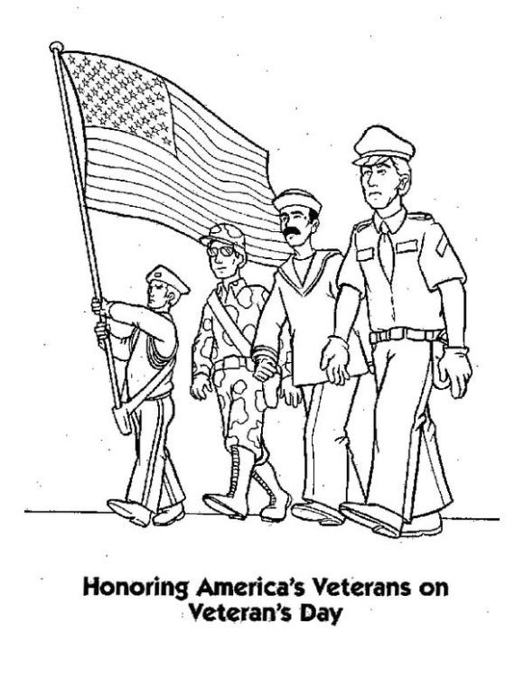 elegant veterans day coloring page