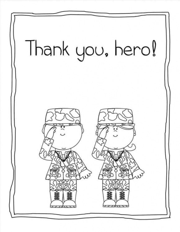 inspirational veterans day coloring page 1