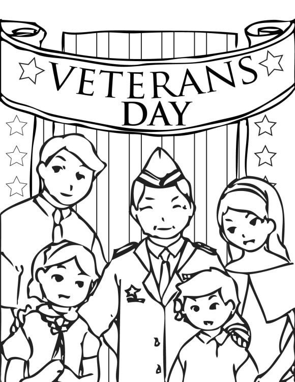 luxury veterans day coloring page 1