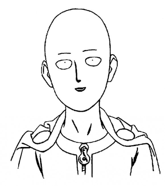 One Punch Man Coloring Page