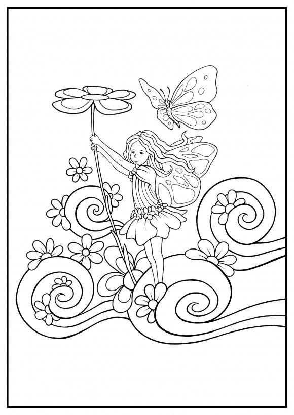 Fairy Coloring Pages for Adults