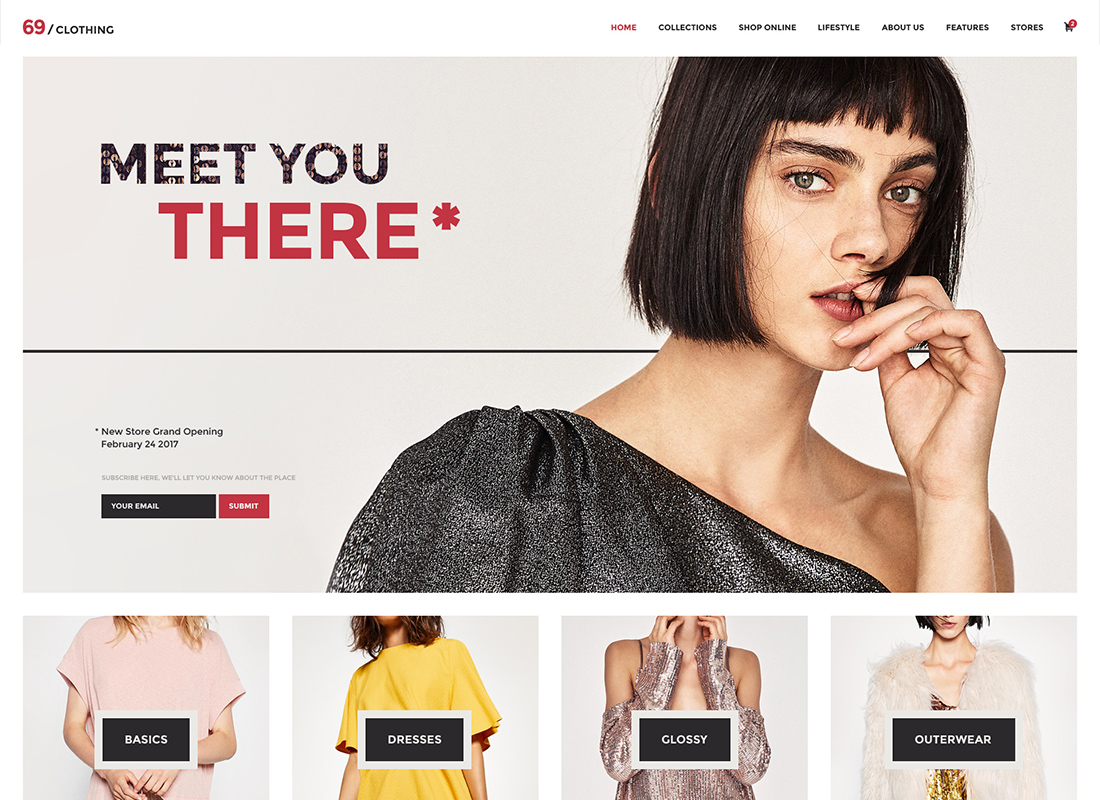 69 Clothing | Brand Store & Fashion Boutique WordPress Theme