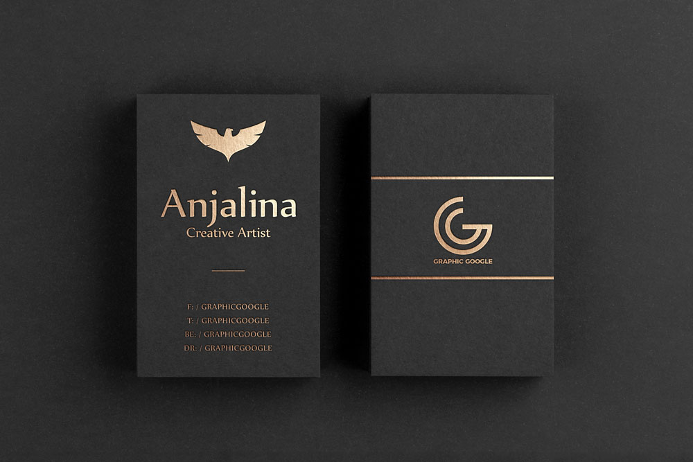 vertical business card mockup