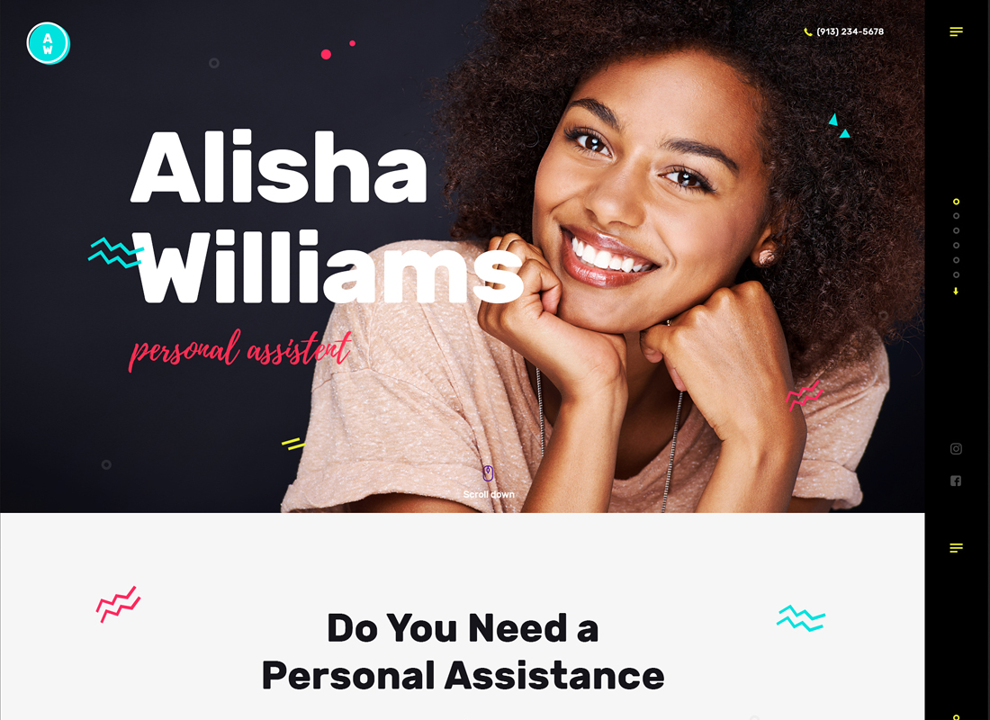 A.Williams - A Personal Assistant & Administrative Services WordPress Theme