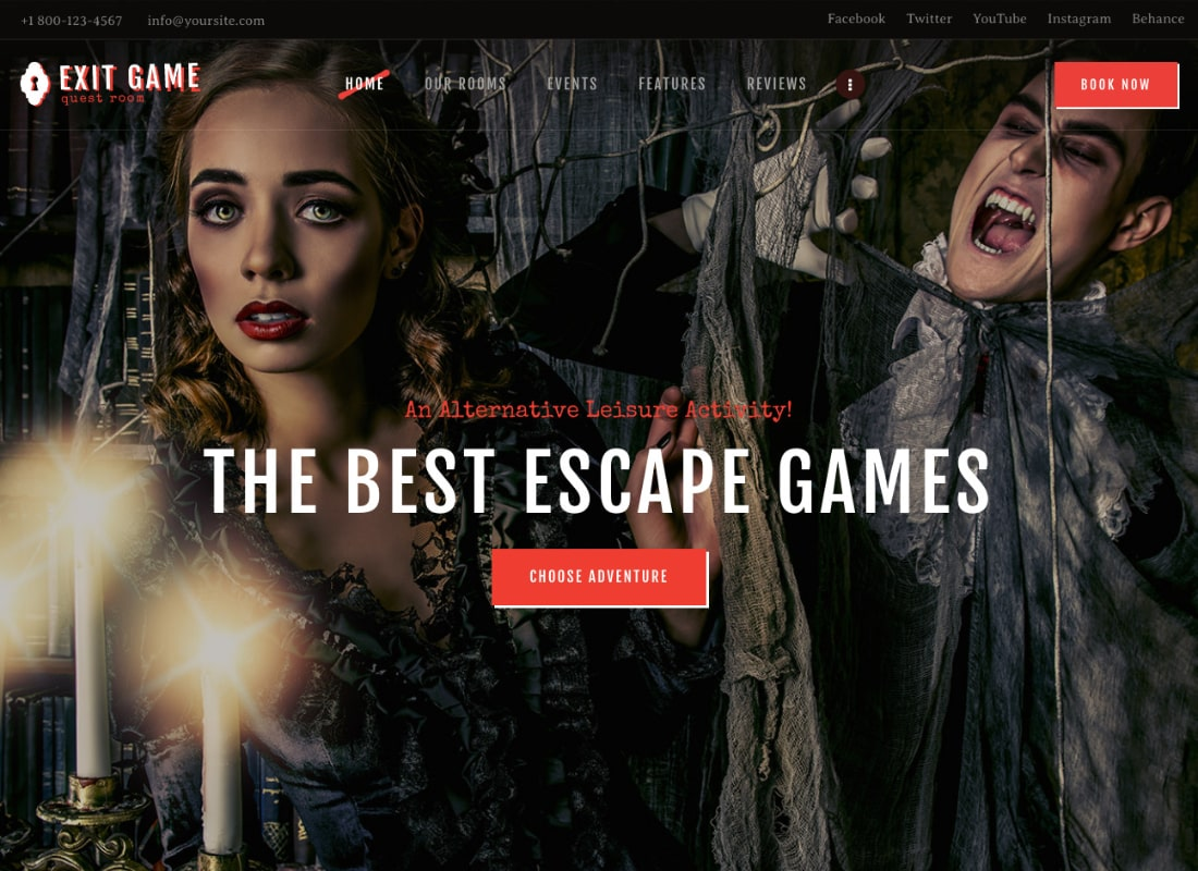 Exit Game   Real-Life Room Escape WordPress Theme