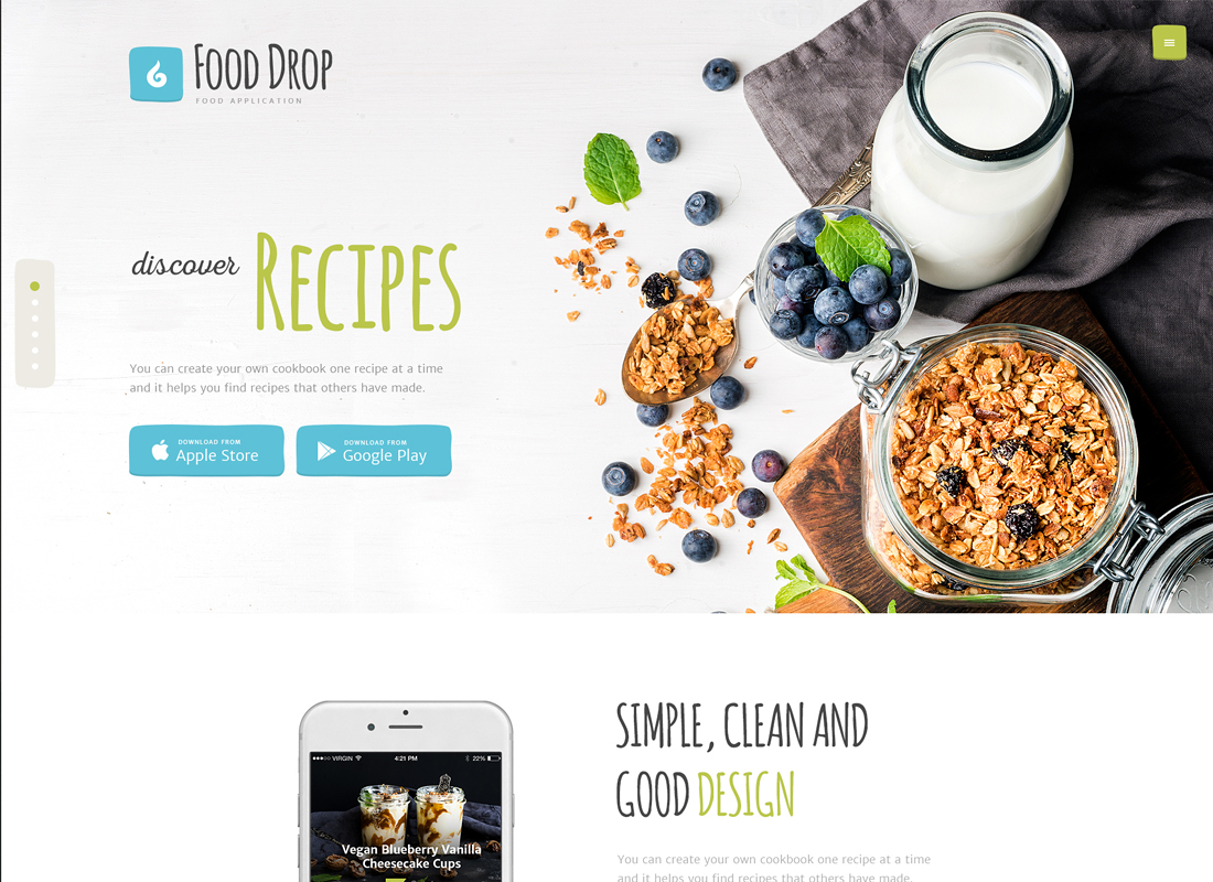 Food Drop - Food Ordering & Delivery Mobile App WordPress Theme