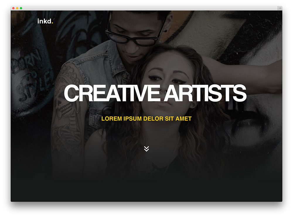 Inkd tatoo studio theme