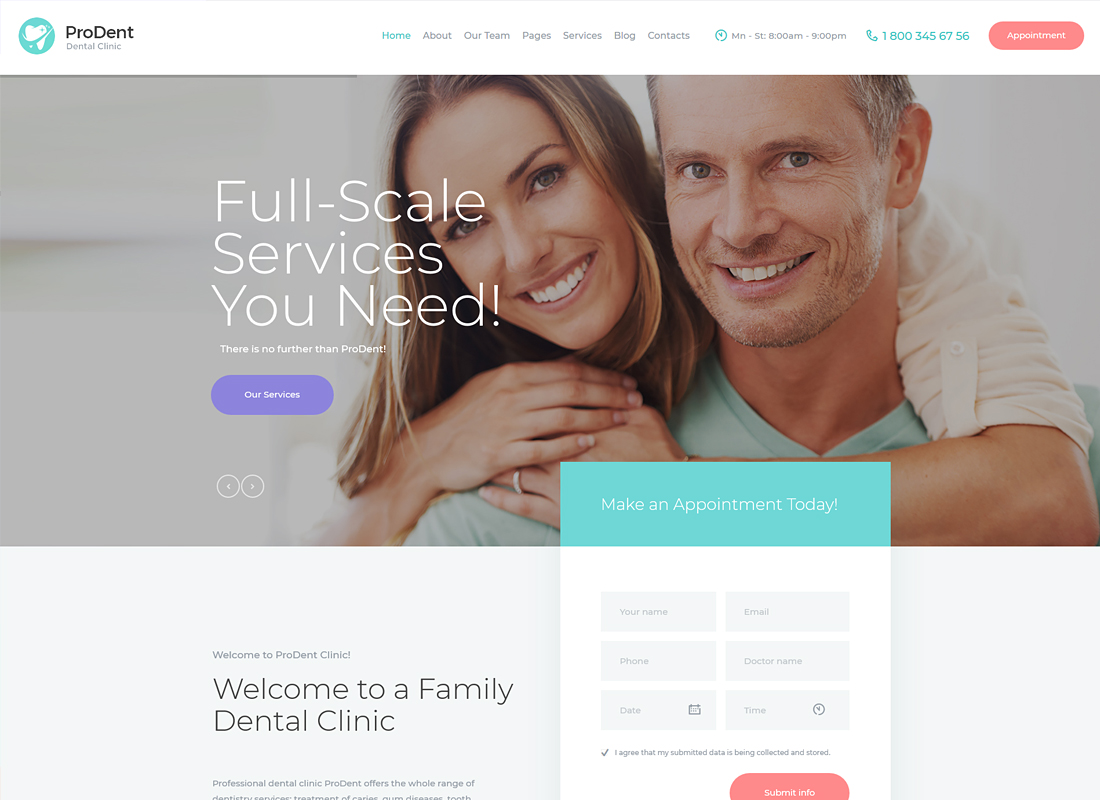 ProDent | Dental Clinic & Healthcare WordPress Theme