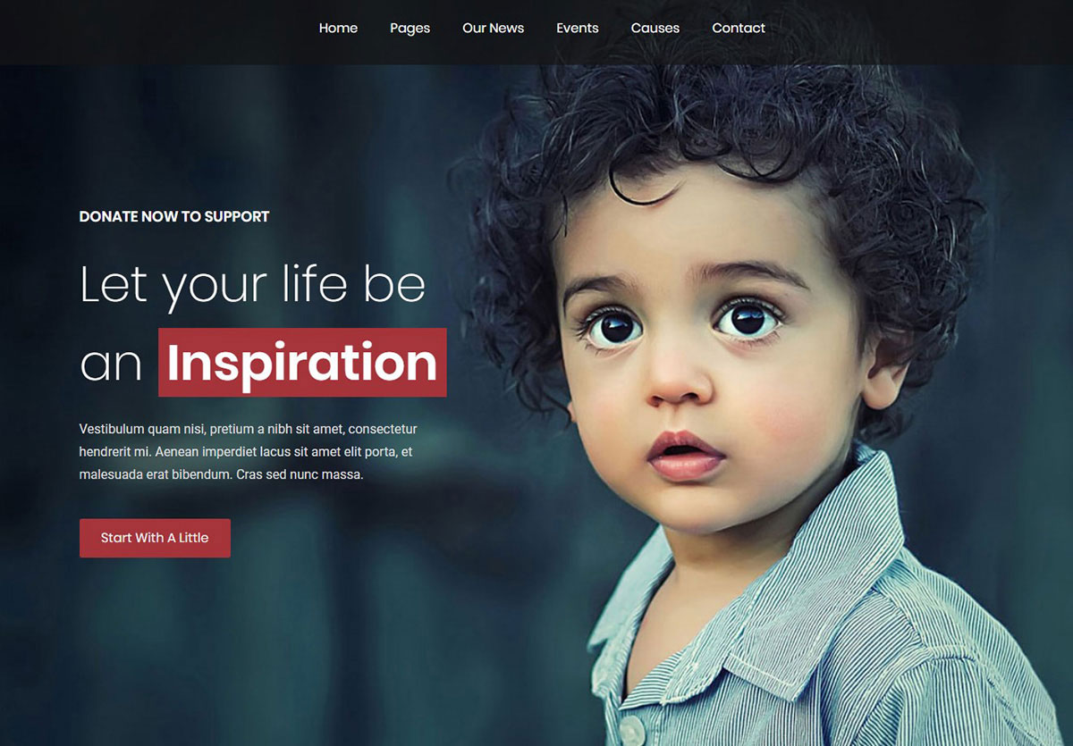 Shelter HTML website template for non-profit organizations image