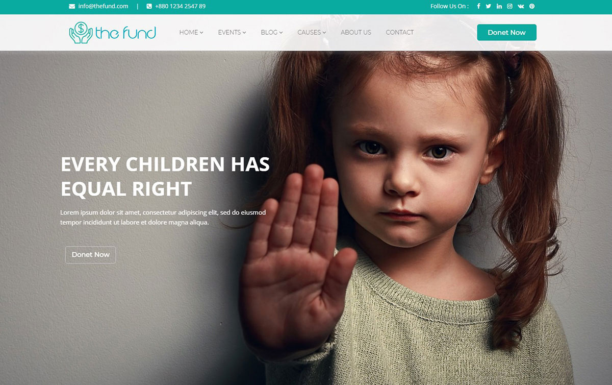 The Fund Charity Website Template for non-profit organization image