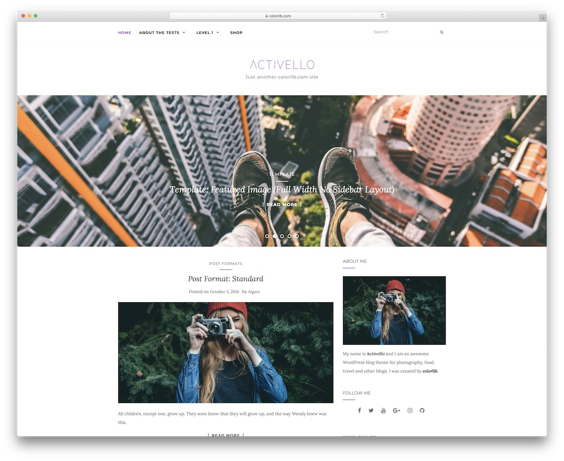 activello free website template