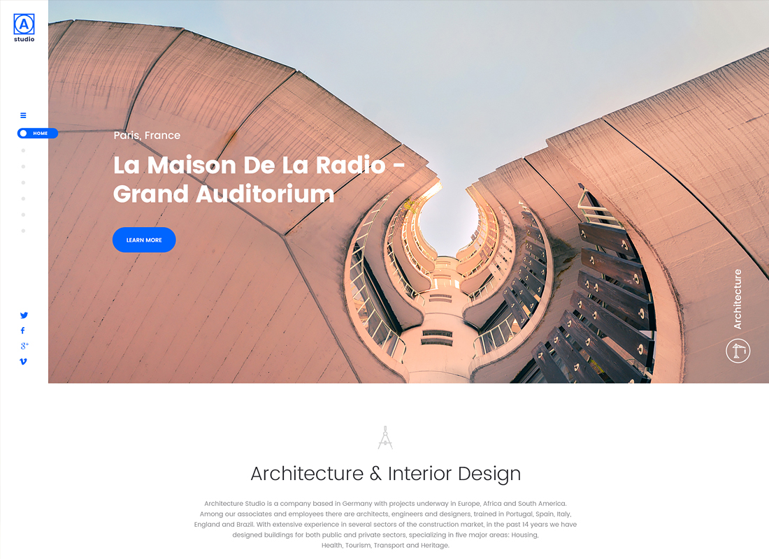 A.Studio - Interior Design and Architecture WordPress Theme
