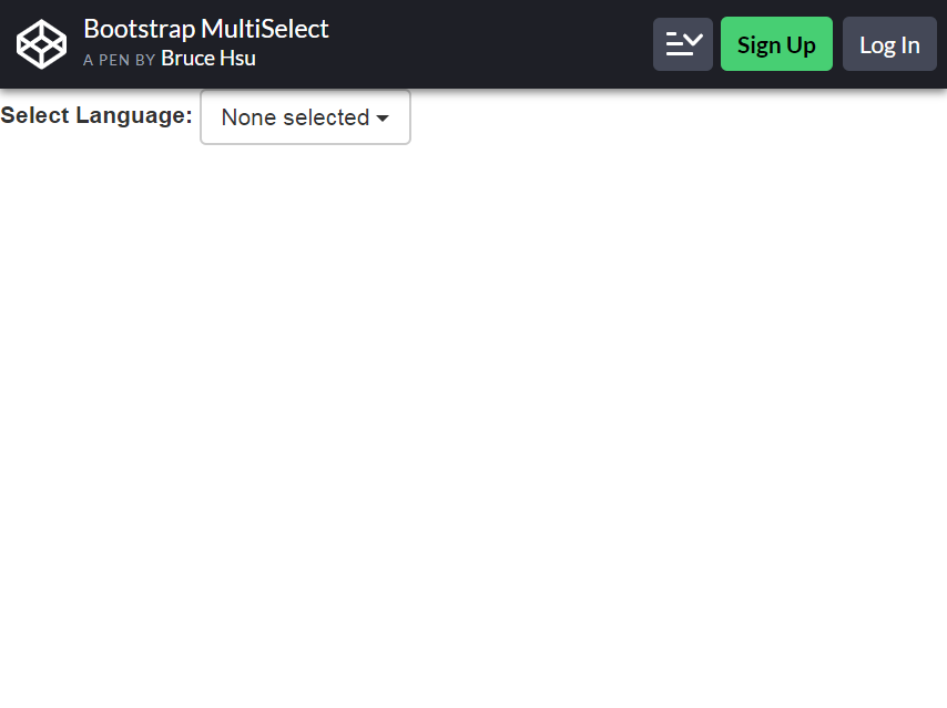 bootstrap multiselect