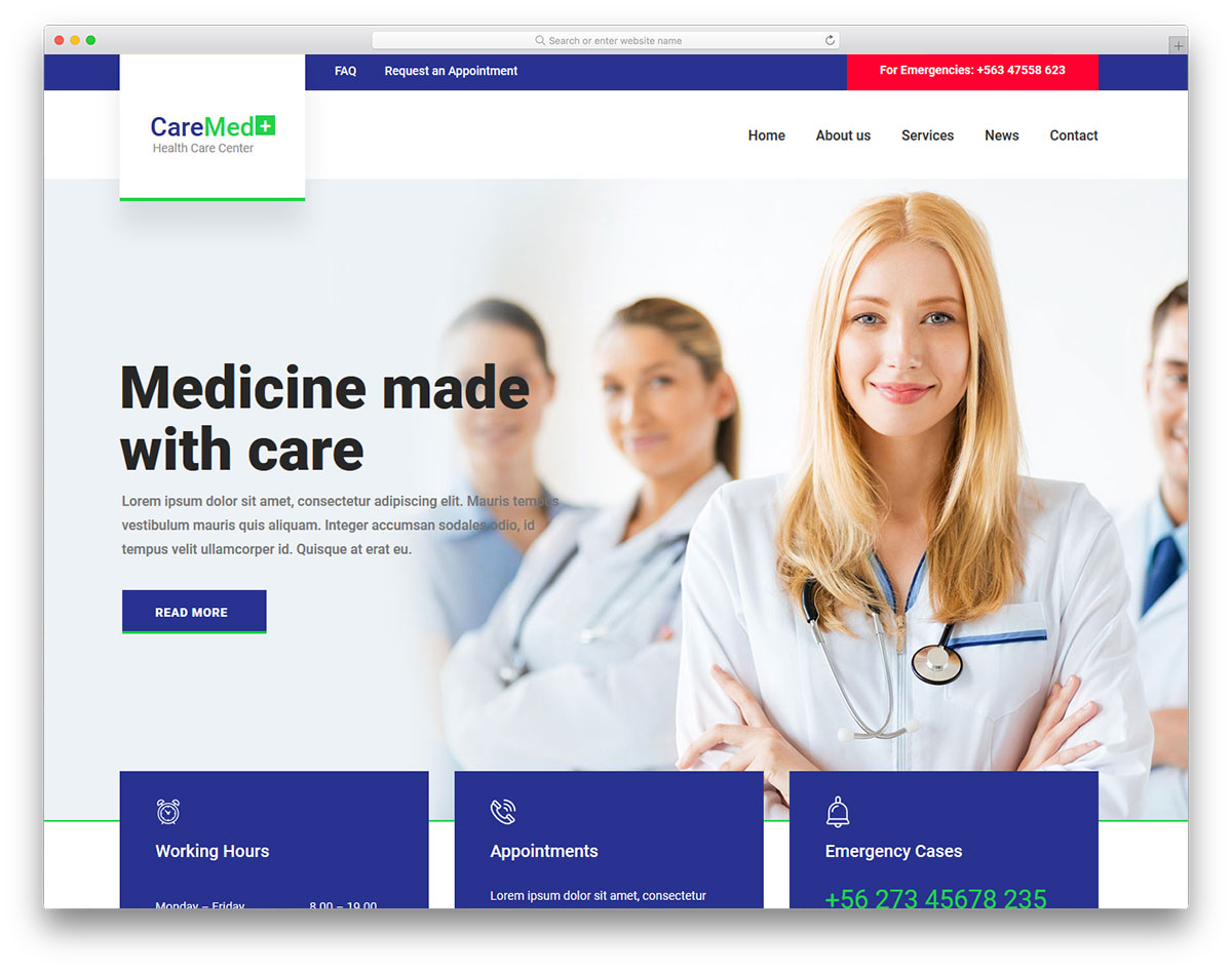 caremed free template